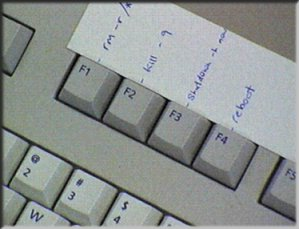A typical BOFH keyboard....