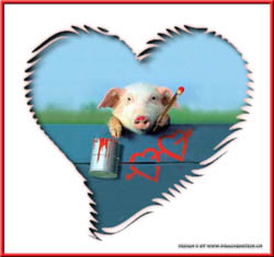 A pig in love...
